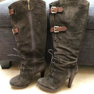 Guess brown suede tall boots